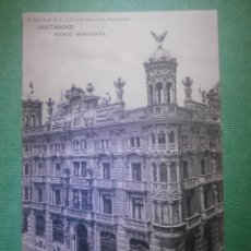 Postales: POSTAL - ESPAÑA - SANTANDER - BANCO MERCANTIL -PROPIEDAD LIBRERIA GENRAL - ESCRITA EN 1907 -. Lote 57142474