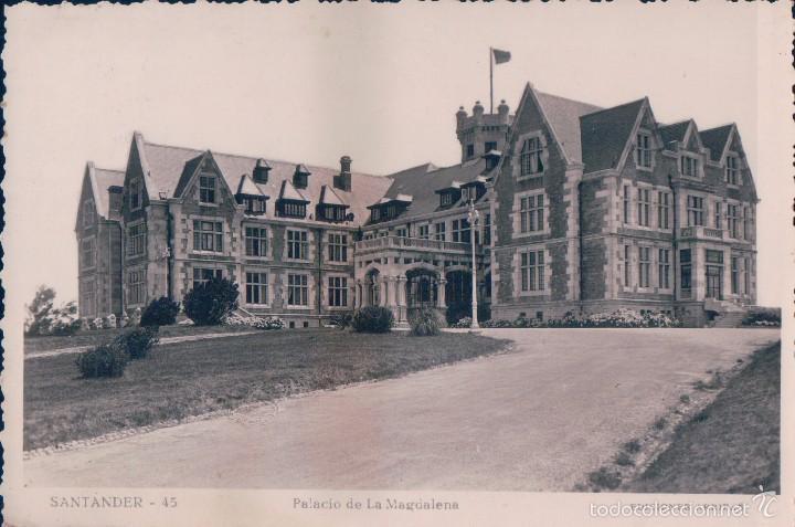 SANTANDER, PALACIO DE LA MAGDALENA, EDITOR: ARRIBAS Nº 45. VER REVERSO. CIRCULADA (Postales - España - Cantabria Antigua (hasta 1.939))