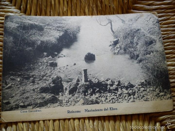ANTIGUA POSTAL. REINOSA (CANTABRIA) NACIMIENTO EBRO. HAUSER Y MENET. (Postales - España - Cantabria Moderna (desde 1.940))