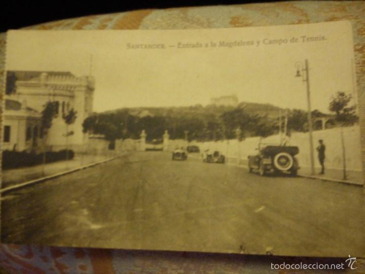 ANTIGUA POSTAL. SANTANDER ENTRADA A LA MAGDALENA Y CAMPO DE TENIS. (Postales - España - Cantabria Moderna (desde 1.940))