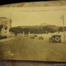 Postales: ANTIGUA POSTAL. SANTANDER ENTRADA A LA MAGDALENA Y CAMPO DE TENIS.. Lote 57353735