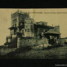 Postais: POSTAL SANTANDER 10 PALACIO DE DON ADOLFO PARDOESCRITA CIRCULADA DOBLADA 1927. Lote 116890002