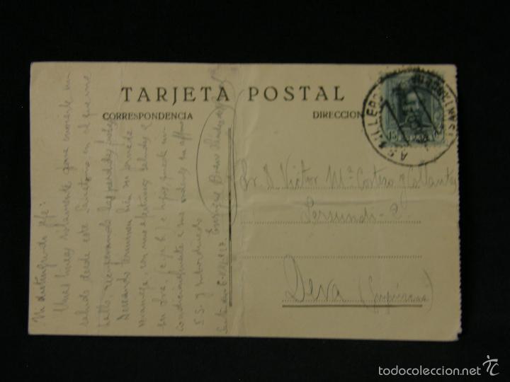 Postales: POSTAL SANTANDER 10 PALACIO DE DON ADOLFO PARDOESCRITA CIRCULADA DOBLADA 1927 - Foto 2 - 116890002