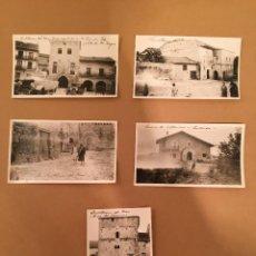 Postales: CANTABRIA - SANTILLANA DEL MAR - 5 FOTOGRAFIAS ANTIGUAS - 1920. Lote 57627188