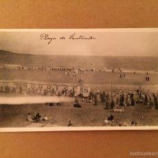 Postales: CANTABRIA - PLAYA DE SANTANDER - 2 FOTOGRAFIA S ANTIGUA S SARDINERO - 1920. Lote 57627216