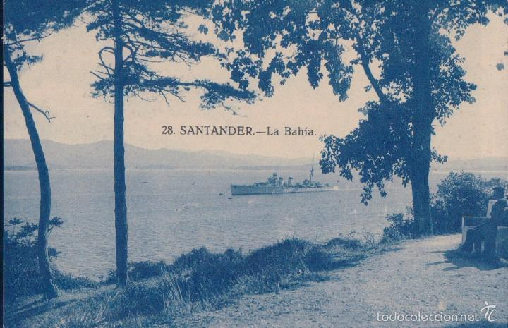 TARJETA POSTAL ANTIGUA DE SANTANDER, Nº 28. - LA BAHIA. (Postales - España - Cantabria Antigua (hasta 1.939))