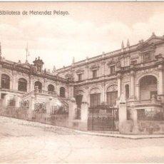 Postales: SANTANDER BIBLIOTECA DE MENENDEZ PELAYO. Lote 57792451