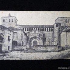 Postales: ANTIGUA POSTAL DE SANTILLANA DEL MAR (CANTABRIA) LA COLEGIATA. AÑOS 20. Lote 57881053