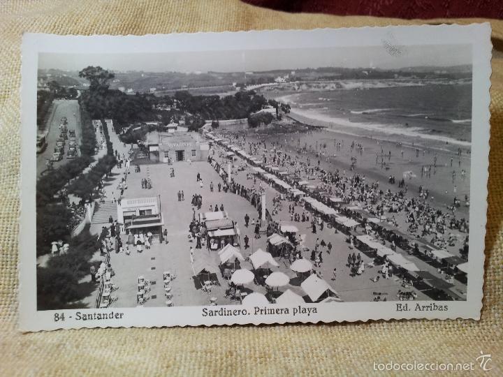 SANTANDER. SARDINERO PRIMERA PLAYA. Nº 84. DE ED. ARRIBAS. (Postales - España - Cantabria Moderna (desde 1.940))