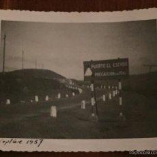 Postales: FOTOGRAFIA DE EL PUERTO DEL ESCUDO (CANTABRIA) 1957 MIDE 10 X 7 CMS. (EL ESCANEADO NO HACE JUSTICIA . Lote 58279116
