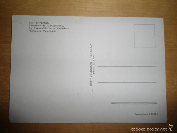 Postales: ANTIGUA POSTAL SANTANDER - PENINSULA DE LA MAGDALENA - NUM 2 - FOTO ALSAR - Foto 2 - 58579823