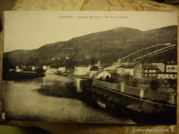POSTAL. LIMPIAS. SANTANDER. BARRIO RIVERO Y RIA DE LIMPIAS. (Postales - España - Cantabria Moderna (desde 1.940))