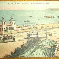 Postales: SANTANDER PANORAMA DESDE EL CASINO BATALLON DE CAZADORES DE LAS NAVAS Nº 2 CENSURA MILITAR VIZCAYA . Lote 61217179