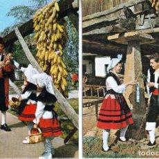 Postales: LOTE 2 POSTALES ASTURIAS. GAITEROS Y FOLKLORE ..SIN CIRCULAR . (16-534). Lote 62111572