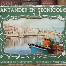Postales: SANTANDER EN TECNICOLOR. CARPETA 10 POSTALES. GRAFICAS MANEN. Lote 63333284