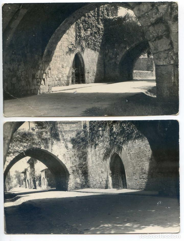 CARTES, SANTANDER, CANTABRIA. LOTE DOS POSTALES. EL TORREÓN, VISTA PARCIAL (Postales - España - Cantabria Antigua (hasta 1.939))