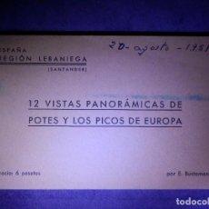 Postales: POSTAL - ESPAÑA - CANTABRIA - R. LEBANIEGA POTES Y LOS PICOS DE EUROPA - 12 VISTAS - E. BUSTAMANTE -. Lote 63713935