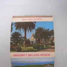 Postales: ACORDEÓN DE POSTALES ISLA DE LA TOJA (CANTABRIA) - ENSUEÑO Y BELLEZA INFINITA . Lote 67194249