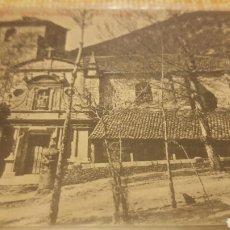 Postales: POSTAL LIMPIAS CANTABRIA. IGLESIA PARROQUIAL. SELLO NUEVO HOTEL DE LIMPIAS. FOTO LEONCIO. THOMAS. Lote 68619714