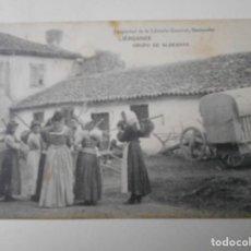 Postales: LIERGANES. GRUPO DE ALDEANAS. POSTAL PROPIEDAD DE LA LIBRERA GENERAL, SANTANDER. . Lote 68763653