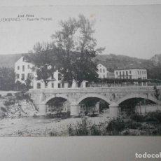 Postales: LIERGANES. PUENTE NUEVO. POSTAL DE E. CABRILLO, TORRELAVEGA. SELLADA. . Lote 68763953