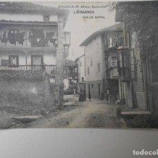Postales: LIERGANES. CALLE ARRAL. POSTAL DE LIBRERIA DE M. ALBIRA, SANTANDER.. Lote 68764545