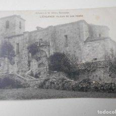 Postales: LIERGANES. IGLESIA DE SAN PEDRO. POSTAL DE LIBRERIA DE M. ALBIRA, SANTANDER.. Lote 68764645