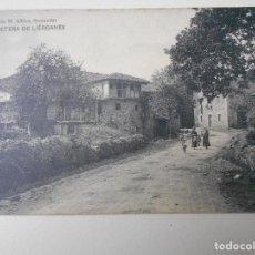 Postales: LIERGANES. CARRETERA DE LIERGANES. POSTAL DE LIBRERIA DE M. ALBIRA, SANTANDER.. Lote 68764757