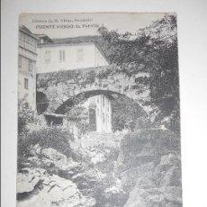 Postales: PUENTE VIESGO. EL PUENTE. POSTAL DE LIBRERIA DE M. ALBIRA, SANTANDER.. Lote 68768273