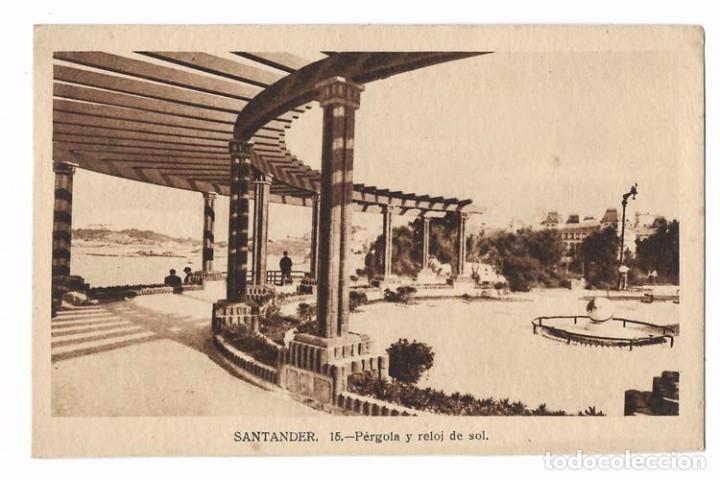 ANTIGUA POSTAL SANTANDER - 15 PÉRGOLA Y RELOJ DE SOL ED. M. ARRIBAS - SIN CIRCULAR (Postales - España - Cantabria Antigua (hasta 1.939))
