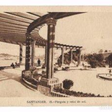 Postales: ANTIGUA POSTAL SANTANDER - 15 PÉRGOLA Y RELOJ DE SOL ED. M. ARRIBAS - SIN CIRCULAR. Lote 69936369