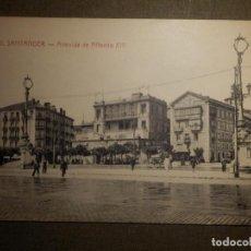 Postales: POSTAL - ESPAÑA - SANTANDER - 1332.- AVENIDA DE ALFONSO XIII - ED. VISITACIÓN POBLADOR - ESCRITA. Lote 69975661
