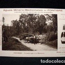 Postales: CA-6) AGUAS MINERO MEDICINALES FONTIBRE-CARRETERA BALNEARIO-DIONISIO GURTUBAY-REINOSA-SANTANDER-1912. Lote 71058601