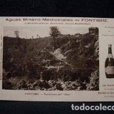 Postales: (CA-10) AGUAS MINERO MEDICINALES FONTIBRE-NACIMIENTO EBRO-DIONISIO GURTUBAY-REINOSA-SANTANDER-1912. Lote 71058889