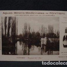 Postales: (CA-11) AGUAS MINERO MEDICINALES FONTIBRE-MARGENES EBRO-F. GURTUBAY SANTANDER-CARTERO FELICITA 1912. Lote 71058961