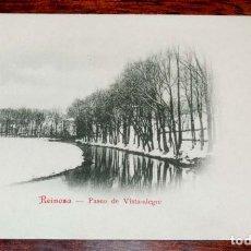 Postales: REINOSA (CANTABRIA) PASEO DE VISTA ALEGRE, COLECCION G. DE LA PUENTE, SERIE B Nº 10 , SIN CIRCULAR Y. Lote 71199137
