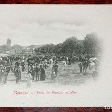 Postales: REINOSA (CANTABRIA) FERIA DE GANADO CABALLAR, COLECCION G. DE LA PUENTE, SERIE B Nº 12 , SIN CIRCULA. Lote 71199473