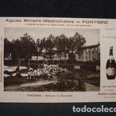 Postales: (CA-8) AGUAS MINERO MEDICINALES FONTIBRE-LA BARCENILLA-FARM GURTUBAY SANTANDER-CARTERO FELICITA 1912. Lote 71459127
