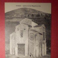 Postales: POSTAL - ESPAÑA - OVIEDO - IGLESIA DE SAN MIGUEL DE LILLO - -M.G.- MG OVIEDO - NC. Lote 72040575