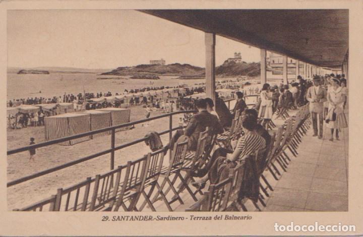 SANTANDER - SARDINERO - TERRAZA DEL BALNEARIO (Postales - España - Cantabria Antigua (hasta 1.939))