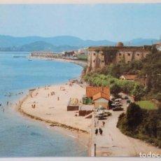 Postales: SANTANDER. CANTABRIA. SANTOÑA. PLAYA Y FUERTE DE SAN MARTIN.. Lote 77825609