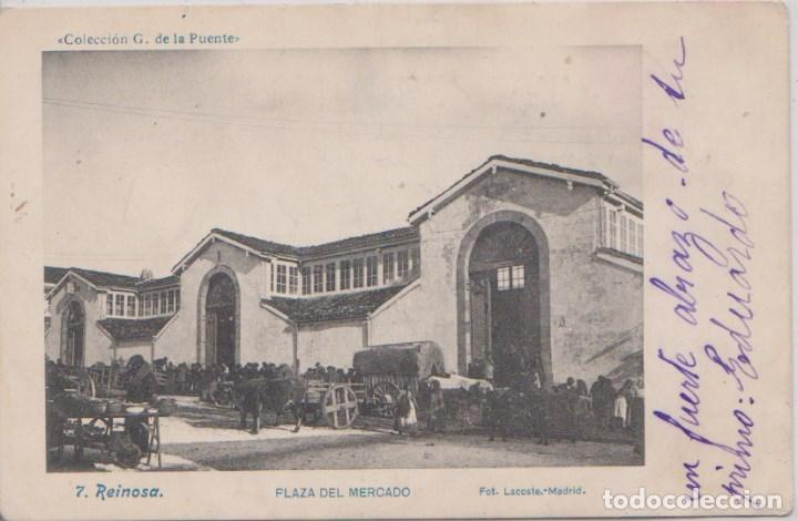 REINOSA (CANTABRIA) - PLAZA DEL MERCADO - FOT. LACOSTE - MADRID (Postales - España - Cantabria Antigua (hasta 1.939))