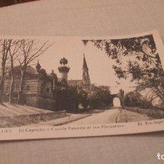 Postales: POSTAL DE COMILLAS - EL CAPRICHO Y CAPILLAPANTEON - NO ESCRITA NI CIRCULADA . Lote 80044093