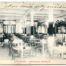 Postales: SANTANDER. CAFÉ ANCORA. MUELLE, 6. E. CABRILLO, TORRELAVEGA.. Lote 80529337
