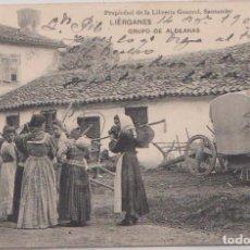 Postales: LIÉRGANES (CANTABRIA) - GRUPO DE ALDEANAS. Lote 80861987