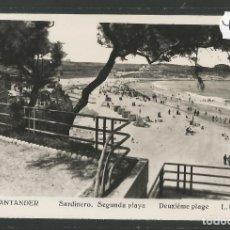 Postales: SANTANDER -414- SARDINERO SEGUNDA PLAYA - FOTOGRAFICA ROISIN - (47.566). Lote 82891144