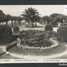 Postales: SANTANDER -244- SARDINERO JARDINES DE PIQUIO - FOTOGRAFICA ROISIN - (47.571). Lote 82891348