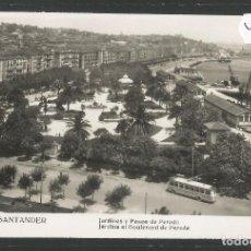 Postales: SANTANDER -221- JARDINES Y PASEO PEREDA - FOTOGRAFICA ROISIN - (47.574). Lote 82891504