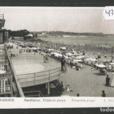 Postales: SANTANDER -153- SARDINERO PRIMER PLAYA - FOTOGRAFICA ROISIN - (47.576). Lote 82891588