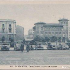 Postales: SANTANDER - CASA CORREOS Y BANCO DE ESPAÑA. Lote 82908608